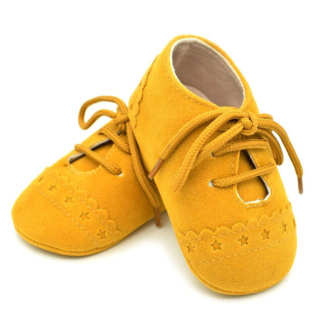 Star Lace Up Shoes | Mustard