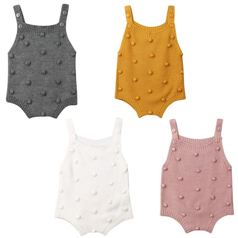 Knitted Dotty Rompers | 4 Colours