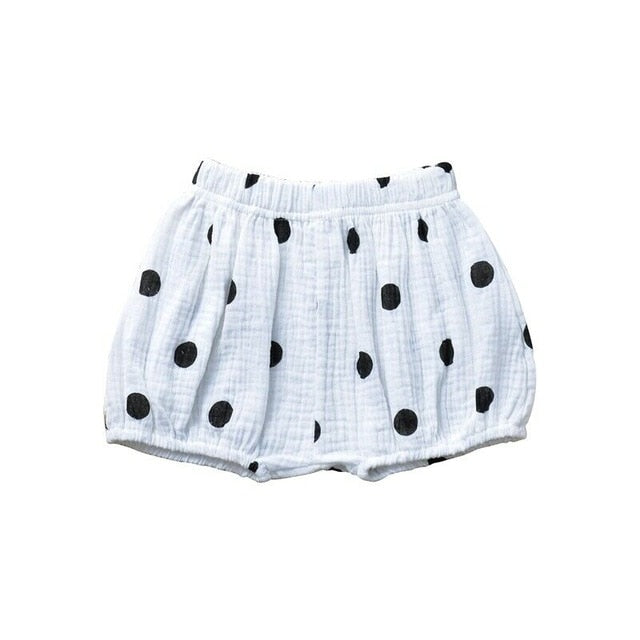 Cotton Shorties | White Black Dots