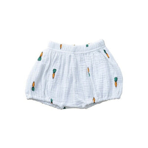 Cotton Shorties | White Carrot