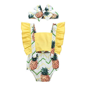 Pina Colada Romper and Headwrap