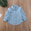 Tiny Boss Chambray Shirt | Black Print