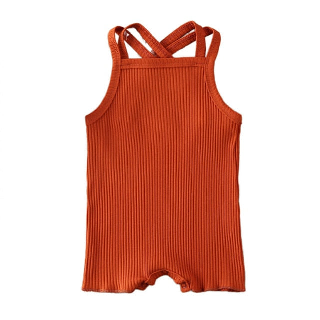 Georgia Cross Back Romper | Rust