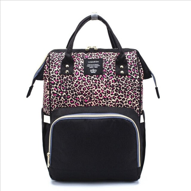 Nappy Bag  Leopard Diva | Red
