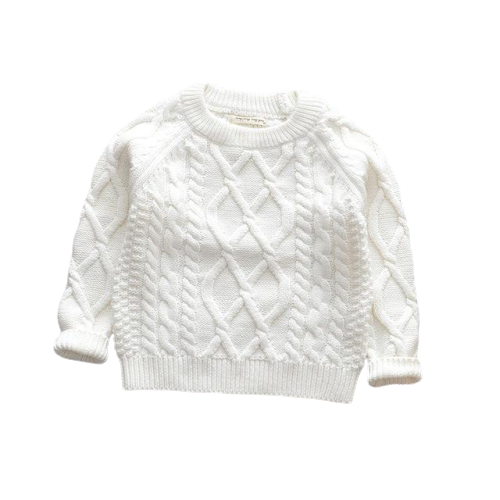 Knit Winter Jumpers | White