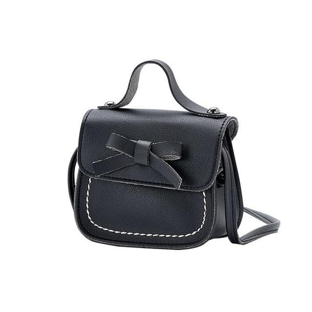 Bow Preppy Handbag | Black