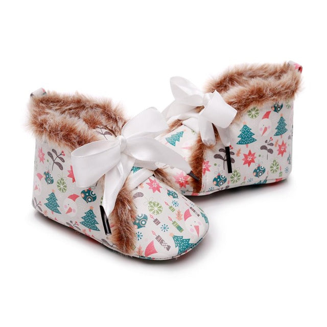 Fluffy Ribbon Boots | Trees