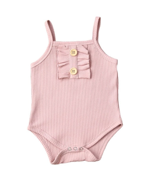 Frilly Button Bodysuit | Pink