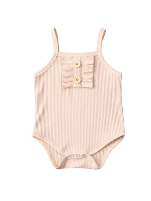 Frilly Button Bodysuit | Neutral