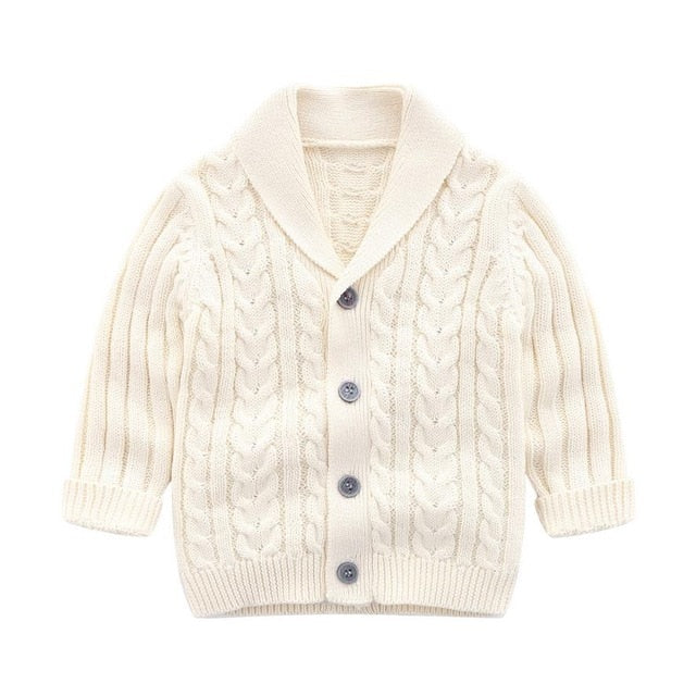 Oxford Cardigan | White