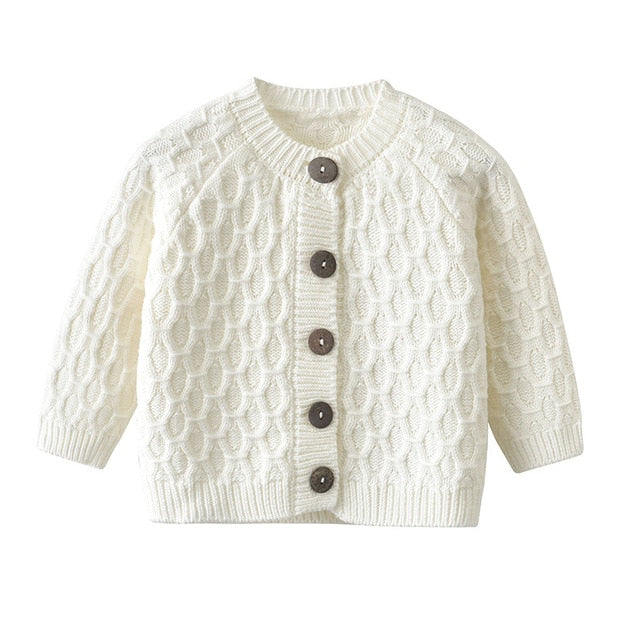 Knit Earth Cardigan | White