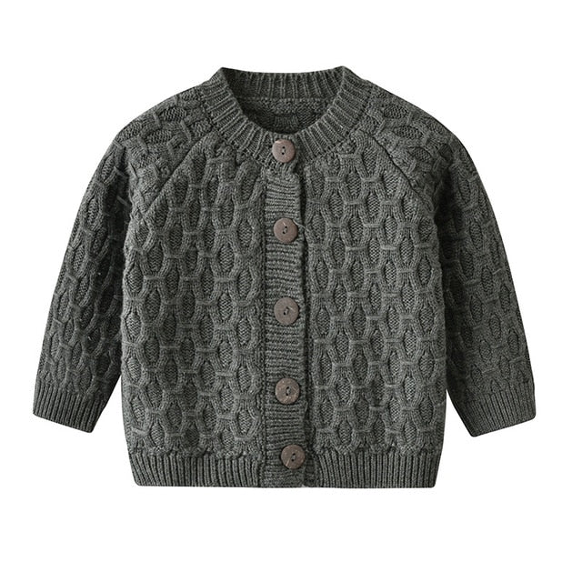 Knit Earth Cardigan | Charcoal