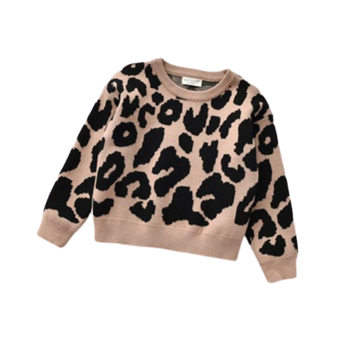 Animal Print Jumper | Tan
