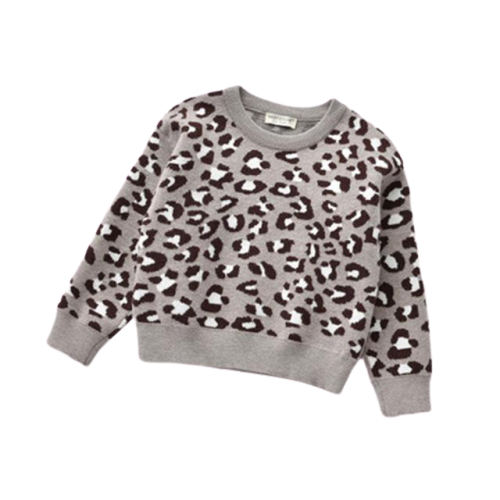 Animal Print Jumper | Grey