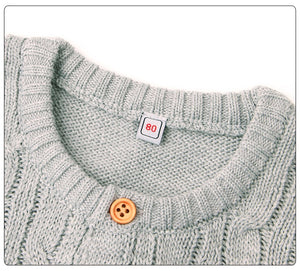 Cable Knit Onesie | Grey