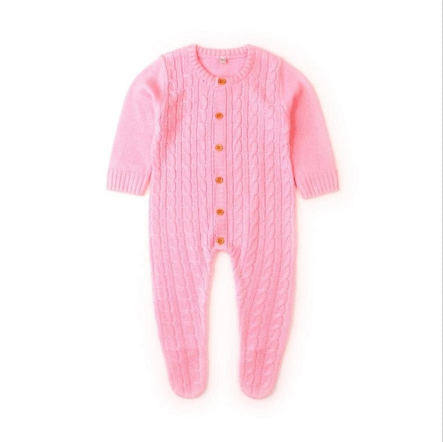 Cable Knit Onesie | Pink