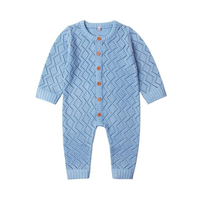 Blake Knit Onesie | Blue