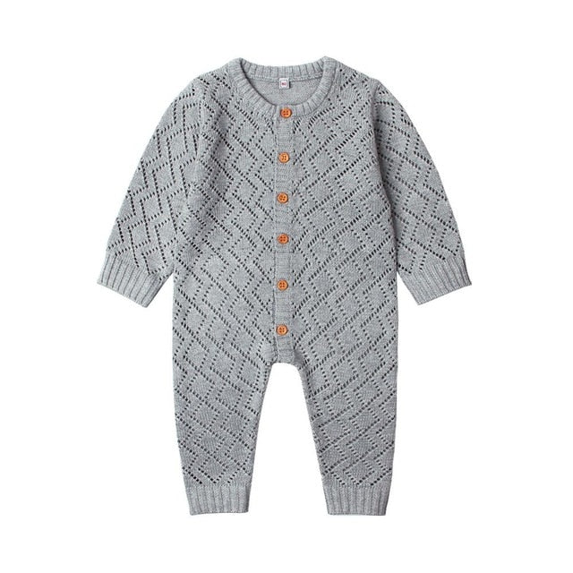 Blake Knit Onesie | Grey