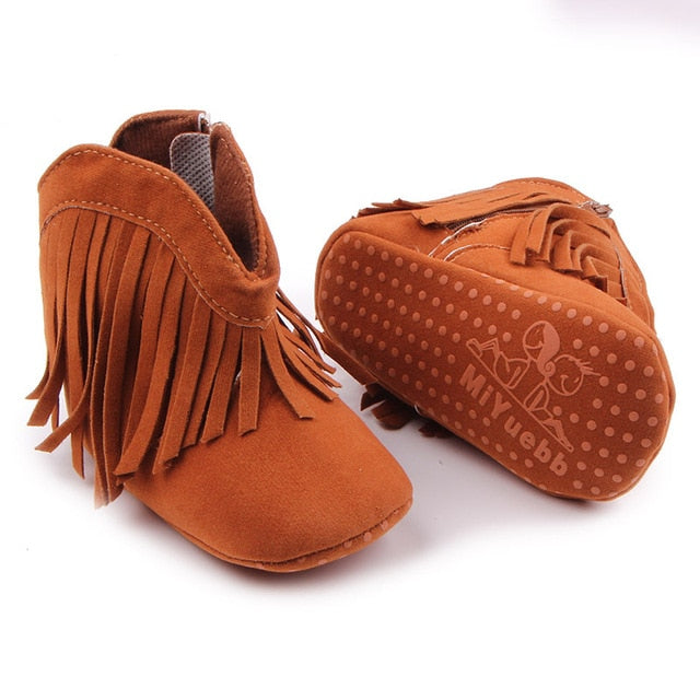 Cowgirl Tassel Boots | Brown