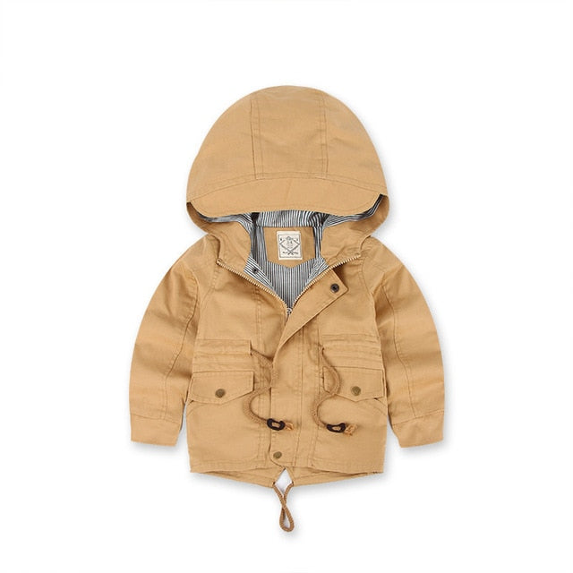 Big Kids Wind Breaker Jacket | Fawn