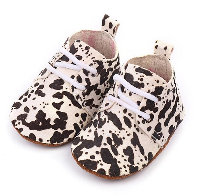 Spots Leather Baby Shoes