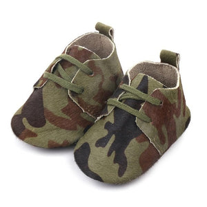 Camo Leather Baby Shoes