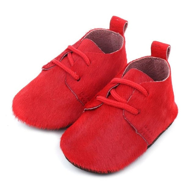 Red Leather Baby Shoes