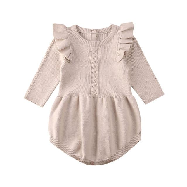 Anastacia Frilly Romper | Beige
