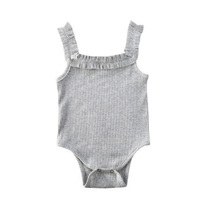 Lunna Frilly Bodysuit | Grey
