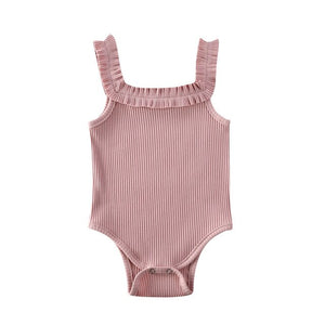 Lunna Frilly Bodysuit | Dusty Pink