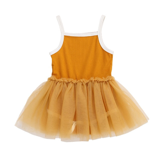 Ribbed Tutu Dress | Orange