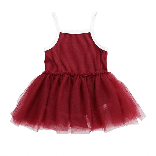 Ribbed Tutu Dress | Red