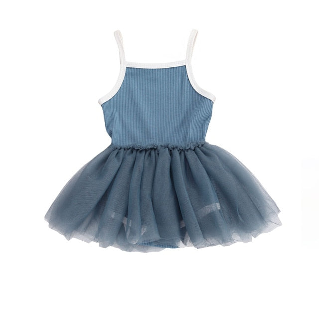 Ribbed Tutu Dress | Blue
