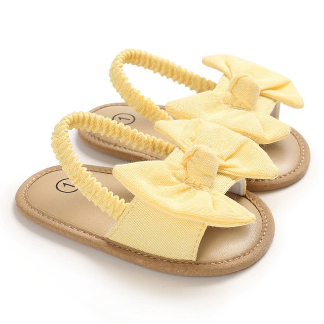 Bow Knot Sandals | Yellow
