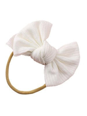 Mini Rib Headband | White