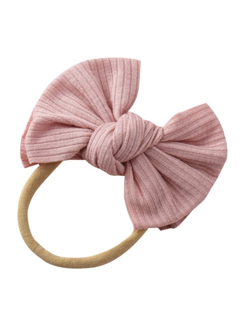 Mini Rib Headband | Dusty Pink