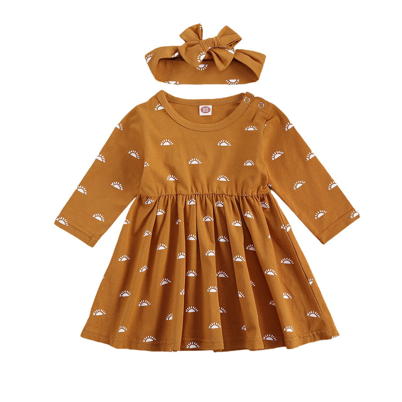 Autumn Sunshine Dress & Matching Headwrap