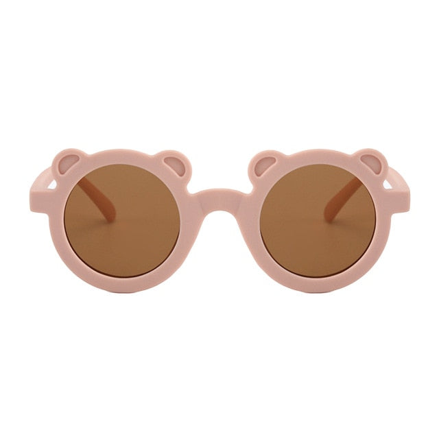 Bear Shaped Sunglasses | Dusky Pink