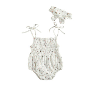 Jamali Sweet Romper Set | White