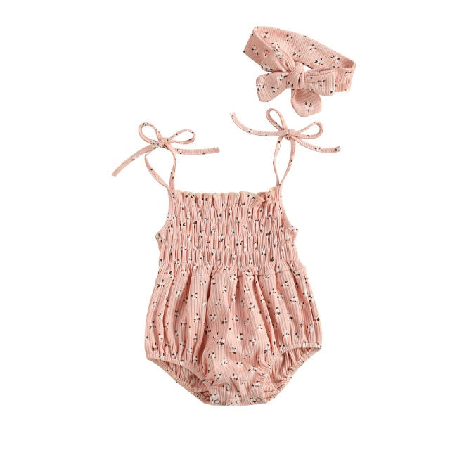 Jamali Sweet Romper Set | Peach