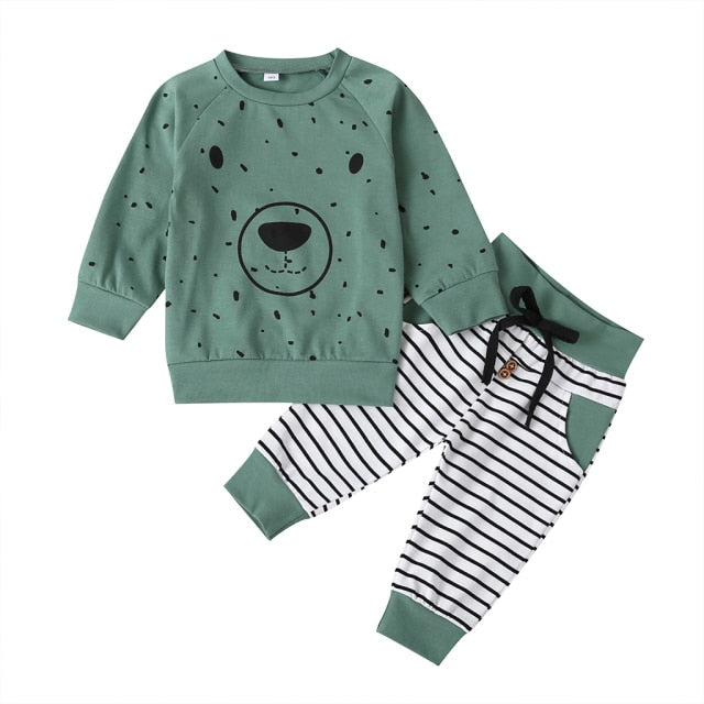 Teddy Bear Tracksuit Set | Green