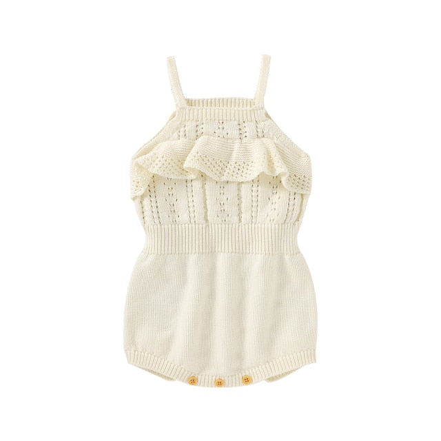 Knitted Zali Romper | Cream