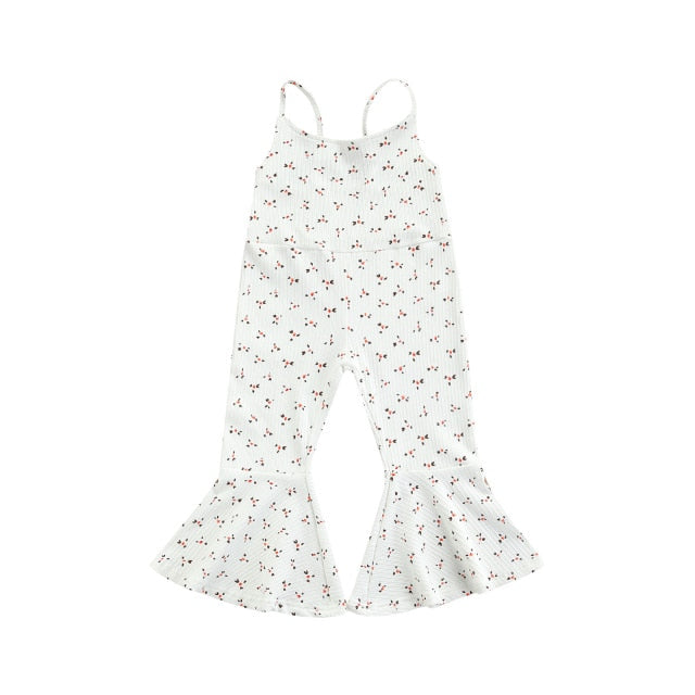 Floral Flares Jumpsuit | White