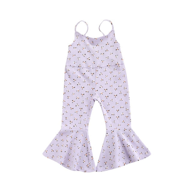 Floral Flares Jumpsuit | Purple
