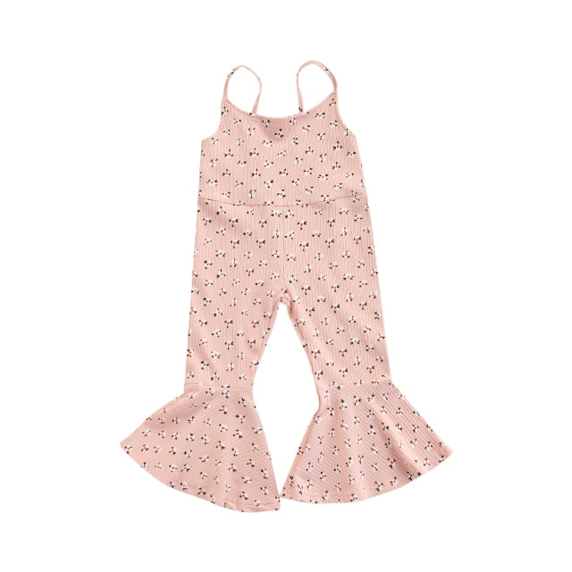 Floral Flares Jumpsuit | Dusty Pink