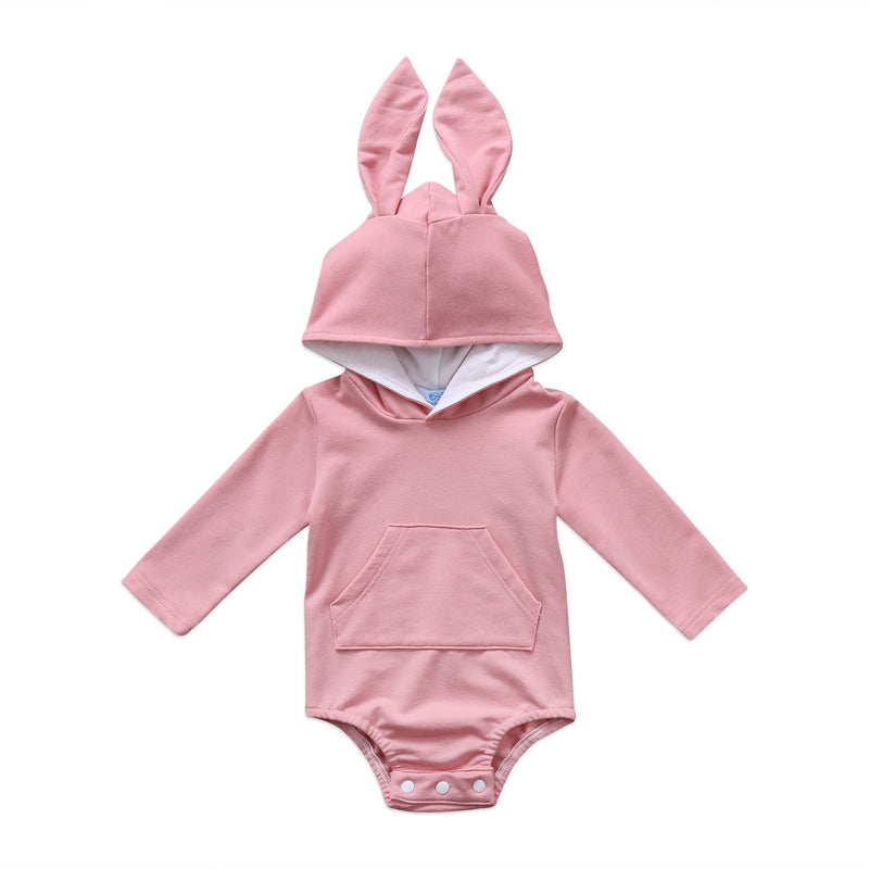 Bunny Ears Long Sleeve Bodysuit | Pink *CLEARANCE*
