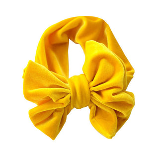 Velvet Look Headband | Yellow