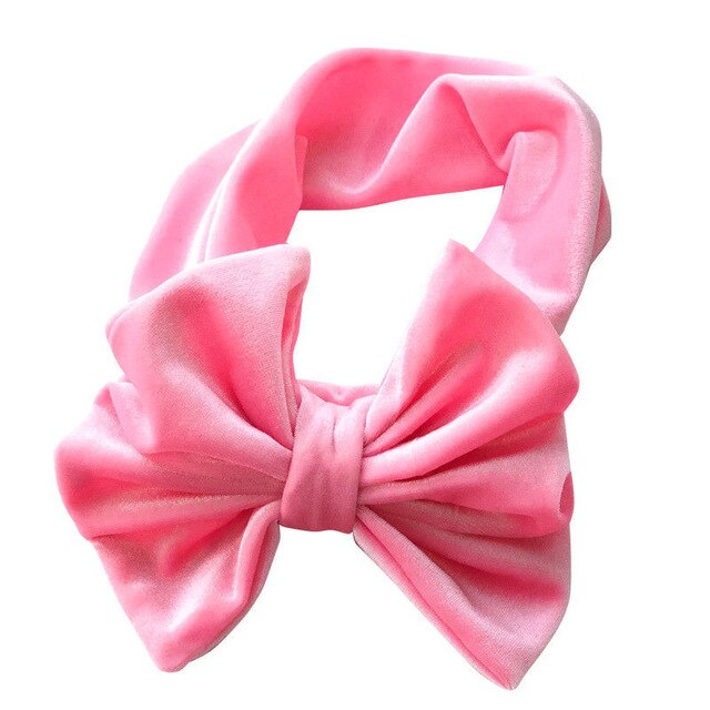 Velvet Look Headband | Light Pink
