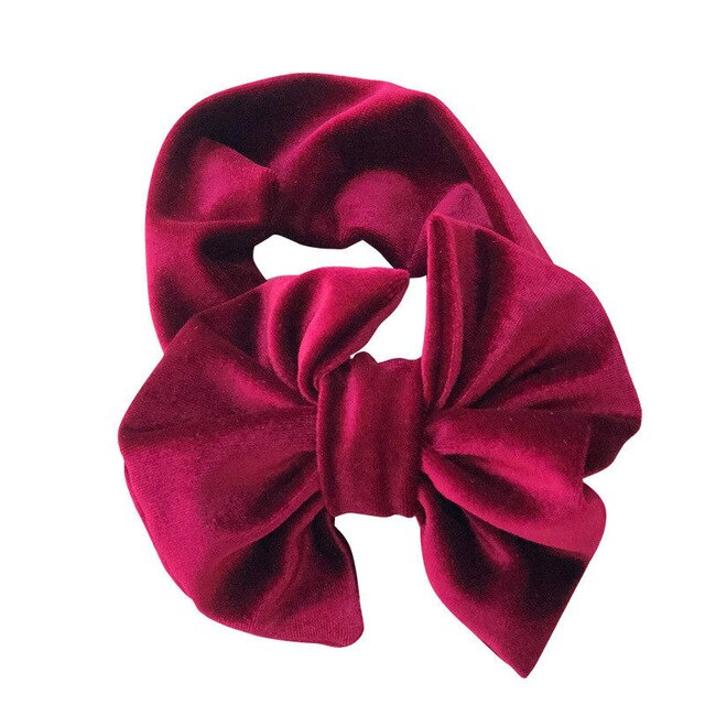 Velvet Look Headband | Wine