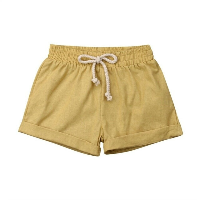 Basic Cotton Shorts | Mustard